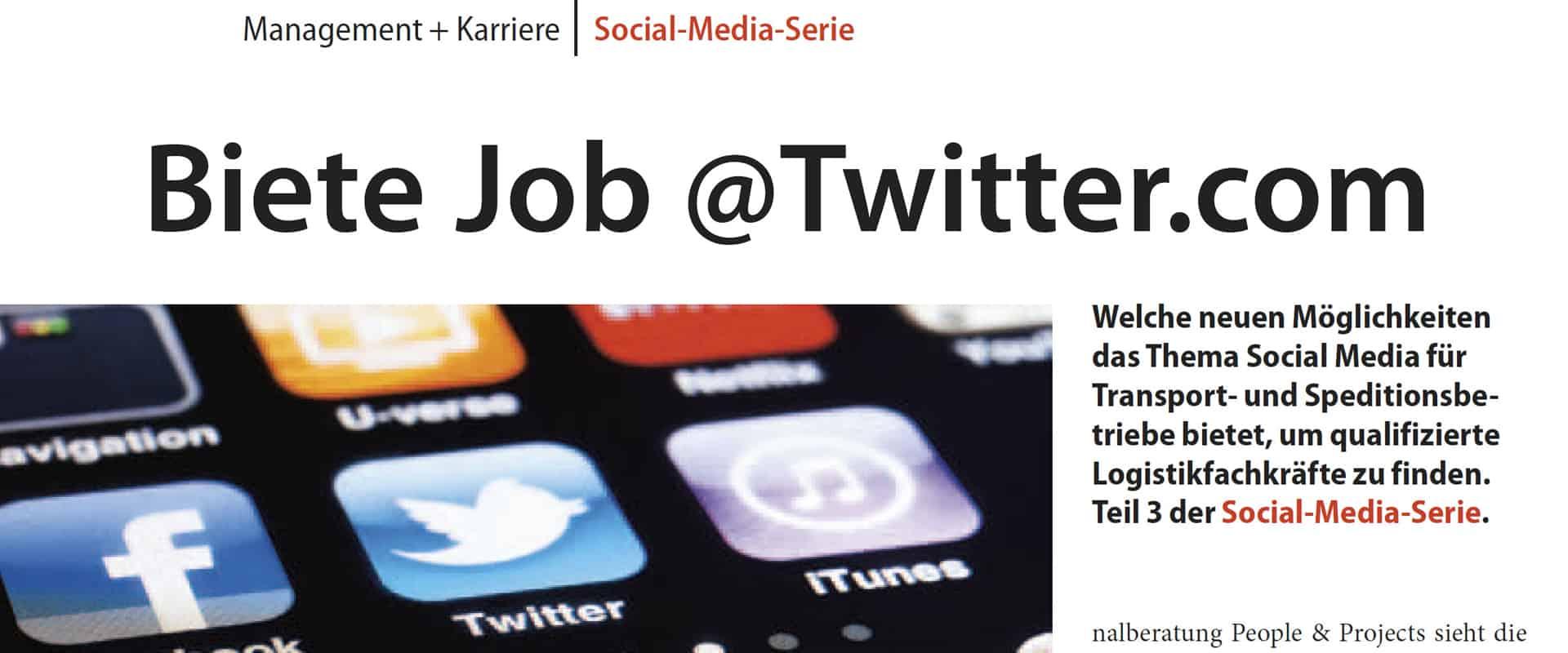 Blog-Artikel: Biete Job @ Twitter